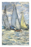The Boats, or Regatta at Argenteuil Rug by Claude Monet