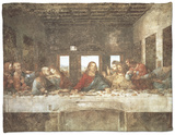 The Last Supper Fleece Blanket by  Leonardo da Vinci