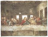 The Last Supper Fleece Blanket by  Leonardo da Vinci