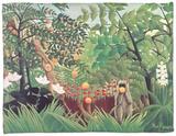 Exotic Landscape, 1910 Fleece Blanket by Henri Rousseau