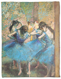 Dancers in Blue, c.1895 Fleece Blanket by Edgar Degas