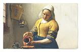 The Milkmaid, circa 1658-60 Rug by Jan Vermeer