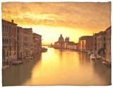 Santa Maria Della Salute, Grand Canal, Venice, Italy Fleece Blanket by Jon Arnold