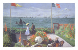 The Terrace at Sainte-Adresse, 1867 Rug by Claude Monet