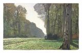El camino a Bas-Breau, Fontainebleau, c. 1865 Alfombrilla por Claude Monet