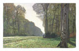The Road to Bas-Breau, Fontainebleau, circa 1865 Rug by Claude Monet