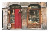 Bicicleta aparcada fuera de una tienda histórica, Siena, Toscana, Italia Alfombrilla por John Elk III