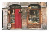 Bicycle Parked Outside Historic Food Store, Siena, Tuscany, Italy Rug by John Elk III
