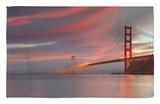 Fog over the Golden Gate Bridge at Sunset, San Francisco, California, USA Rug by Patrick Smith