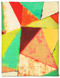 Triangles II Fleece Blanket by Amy Lighthall