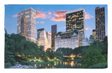 Central Park South at Night Alfombrilla por Jean-pierre Lescourret