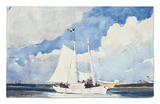 Fishing Schooner, Nassau Alfombrilla por Winslow Homer