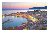 Harbour at Dusk, Pythagorion, Samos, Aegean Islands, Greece Rug by Stuart Black