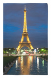 Eiffel Tower and Reflection at Twilight, Paris, France, Europe Rug by Richard Nebesky