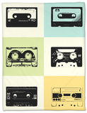 Mix Tape Poster Fleece Blanket by  NaxArt