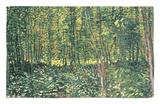 Bosques y maleza, c.1887 Alfombrilla por Vincent van Gogh