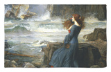 Miranda, la tempestad, 1916 Alfombrilla por John William Waterhouse