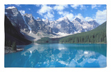 Moraine Lake in the Valley of Ten Peaks, Canada Rug by Diane Johnson