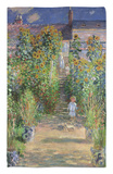 The Artist's Garden at Vetheuil, 1880 Rug by Claude Monet