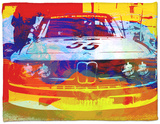 Bmw Racing Watercolor Fleece Blanket by  NaxArt