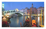 Rialto Bridge, Grand Canal, Venice, Italy Rug by Demetrio Carrasco