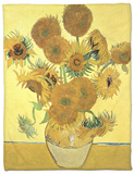 Vase of Fifteen Sunflowers, c.1888 Fleece Blanket by Vincent van Gogh
