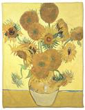 Vase of Fifteen Sunflowers, c.1888 Fleece Blanket by Vincent van Gogh