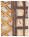 Textured Windows I Fleece Blanket by Karen Deans
