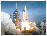 First Space Shuttle Launch on April 12, 1981 Fleece Blanket