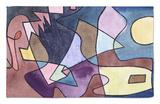 Dramatic Landscape; Dramatische Landschaft Rug by Paul Klee