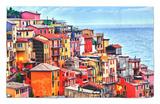 Scenes from Cinque Terra, Italy Alfombrilla por Richard Duval