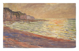 Beach at Pourville, Sunset, 1882 Rug by Claude Monet