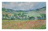 Prado de amapolas Alfombrilla por Claude Monet