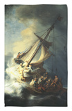 The Storm on the Sea of Galilee Rug by  Rembrandt van Rijn