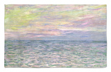 On the High Seas, Sunset at Pourville; Coucher De Soleil a Pourville, Pleine Mer, 1882 Rug by Claude Monet