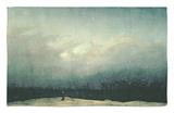 Monk by Sea, 1809 Rug by Caspar David Friedrich