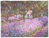 The Artist's Garden at Giverny, 1900 Fleece Blanket by Claude Monet
