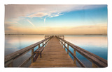 Sunrise on the Pier at Terre Ceia Bay, Florida, USA Alfombrilla por Richard Duval