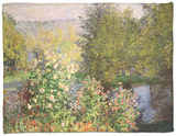 A Corner of the Garden at Montgeron, 1876-7 Fleece Blanket by Claude Monet