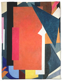 Painterly Architectonics, 1916-17 Fleece Blanket by Liubov Sergeevna Popova