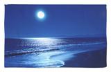Luna llena sobre el mar Alfombrilla