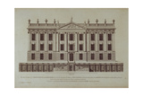 West Front of Chatsworth, from 'Vitruvius Britannicus or The British Architect' Giclee Print