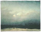 Monk by Sea, 1809 Fleece Blanket by Caspar David Friedrich