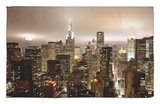 Chrysler Building and Midtown Manhattan Skyline, New York City, USA Rug by Jon Arnold