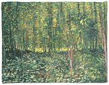 Woods and Undergrowth, c.1887 Fleece Blanket by Vincent van Gogh