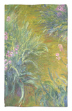 Iris Rug by Claude Monet