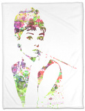 Audrey Hepburn 2 Fleece Blanket by  NaxArt