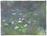 Waterlilies: Morning, 1914-18 (Right Section) Fleece Blanket by Claude Monet