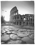 Colosseum and Via Sacra, Rome, Italy Fleece Blanket by Michele Falzone