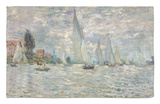 The Boats, or Regatta at Argenteuil, circa 1874 Rug by Claude Monet